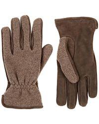Barneys New York - Merino Wool-cashmere & Suede Gloves - Lyst