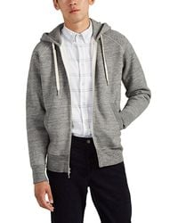 Rag & Bone Racer Cotton Zip-front Hoodie - Gray