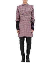Vetements - Plaid Cotton Embellished Tunic Shirt - Lyst