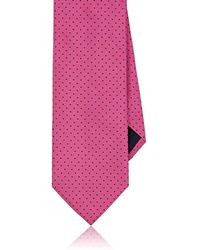Barneys New York - Dotted Silk Satin Necktie - Lyst