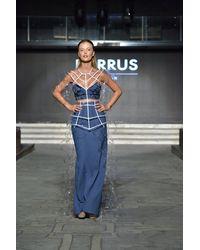 Barrus London Back Slit Skirt - Blue