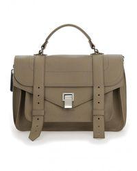 Proenza Schouler Medium Ps1 Handbag - Womens - Brown/beige - Multicolour