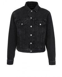 Balenciaga Denim Jacket - Mens - Black