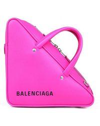 Balenciaga - Triangle Duffle Xs Leather Bag - Lyst