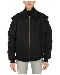 ebd76497e3822 Lyst - Balenciaga Shearling Aviation Jacket in Black for Men