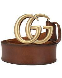 Gucci Gg Belt - Brown