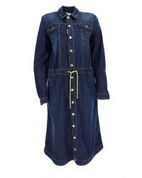 DSquared² Dress - Womens - Blue / Light Blue