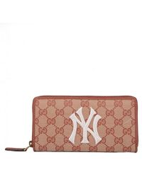 83aa049f0316b6 Gucci - Original GG Zip Around Wallet With New York Yankees Patchtm - Lyst