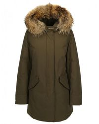 brand new 210ac 1f92e Woolrich Leather Brown Luxury Arctic Parka in Gray - Lyst
