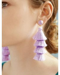 BaubleBar Gabriela Stud Tassel Earrings - Multicolour