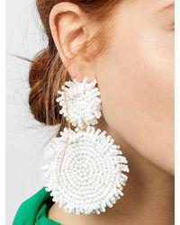 BaubleBar Rianne Drop Earrings - White