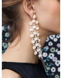 BaubleBar Shiori Flower Drop Earrings - White