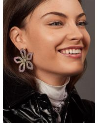 BaubleBar Primina Flower Drop Earrings - Pink