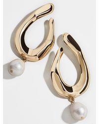 BaubleBar Petra Pearl Drop Earrings - Multicolour