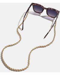 BaubleBar Convertible Petra Sunglass Chain And Necklace - Metallic