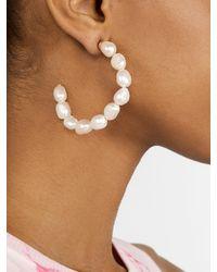 BaubleBar Dafina Pearl Hoop Earrings - Multicolour