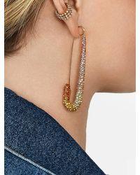 BaubleBar X Montserrat Large Pavé Safety Pin Earrings - Multicolour