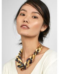 BaubleBar - Fabia Linked Statement Resin Necklace - Lyst