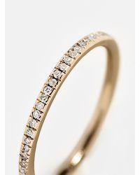 BaubleBar Silvia Diamond Stacking Ring - Metallic