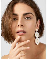 BaubleBar Mariette Fringe Drop Earrings - Multicolour