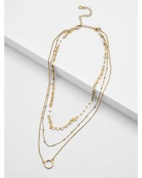 BaubleBar Adrielle Layered Necklace - Multicolour