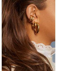 BaubleBar Dalilah Medium Tube Hoop Earrings - Metallic