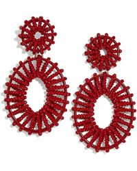 BaubleBar Beaded Kiera Drop Earrings - Red