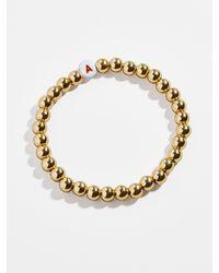 BaubleBar Initial Pisa Beaded Bracelet - Metallic