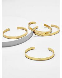 BaubleBar Morse Code Cuff - Metallic