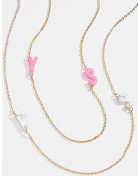 BaubleBar Acrylic Initial Necklace - Multicolour
