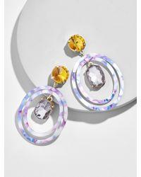 BaubleBar - Aleeza Resin Hoop Earrings - Lyst