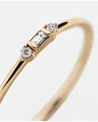 BaubleBar Serafina Diamond Stacking Ring - Metallic