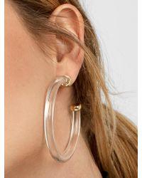 BaubleBar Leia Resin Hoop Earrings - Multicolour