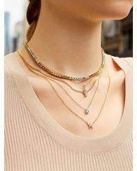 BaubleBar Nadine Birthstone Necklace - Multicolor
