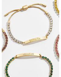 BaubleBar Begins With You Engravable Gem Bracelet - Multicolour