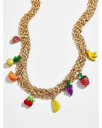 BaubleBar Blossom Layered Necklace - Metallic