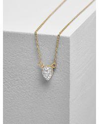 BaubleBar - Adina Reyter Super Tiny Solid Pavé Teardrop Necklace - Lyst