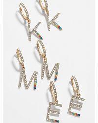 BaubleBar Initial Drop Earrings - Metallic