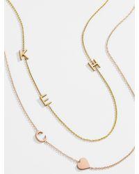 BaubleBar Maya Brenner Asymmetrical Letter Necklace - Multicolor