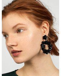 BaubleBar - Floretta Sequin Hoop Earrings - Lyst