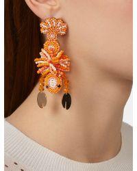 BaubleBar Lobster Drop Earrings - Orange