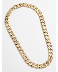 BaubleBar Large Michel Curb Chain Necklace - Metallic