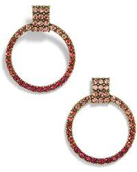 BaubleBar - Gemma Hoop Earrings-pink - Lyst