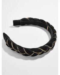 BaubleBar Serafina Braided Headband - Black