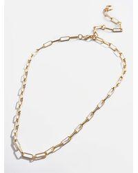 BaubleBar Small Hera Link Necklace - Metallic