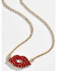 BaubleBar Coco Pendant Necklace - Metallic