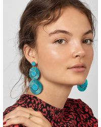 BaubleBar Mariette Fringe Drop Earrings - Blue