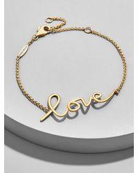 BaubleBar - L'amour 18k Gold Plated Bracelet - Lyst