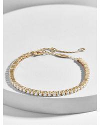 BaubleBar - Riga 18k Gold Plated Tennis Bracelet - Lyst