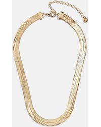 BaubleBar Gianna Herringbone Necklace - Metallic